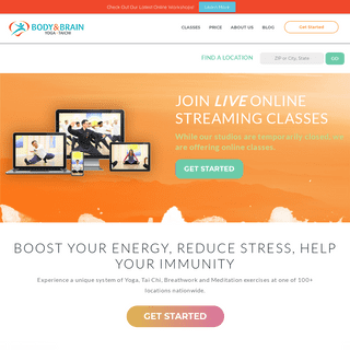 BODY & BRAIN - Now Offering Live Online Yoga & Tai Chi Classes!