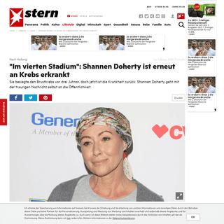 Shannen Doherty ist erneut an Krebs erkrankt- -Im vierten Stadium- - STERN.de