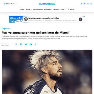 Pizarro anota su primer gol con Inter de Miami - ELIMPARCIAL.COM