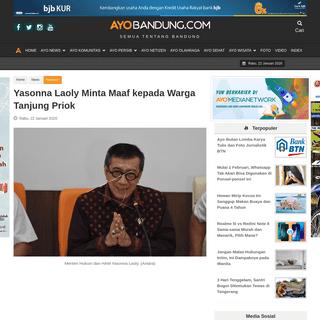 Yasonna Laoly Minta Maaf kepada Warga Tanjung Priok