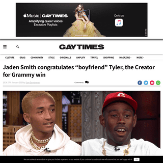 Jaden Smith congratulates -boyfriend- Tyler, the Creator for Grammy win