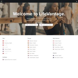 Welcome - LifeVantage International (en)
