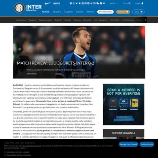 Match Review- Ludogorets-Inter 0-2 - News