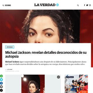 Michael Jackson- revelan detalles desconocidos de su autopsia - La Verdad Noticias