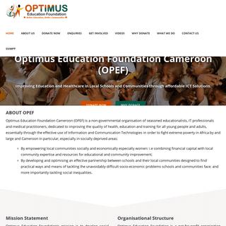 Optimus Education Foundation Cameroon