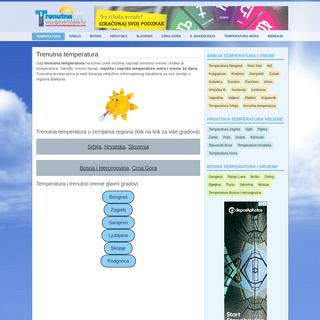 Trenutna Temperatura - Vreme danas, sutra, 7 i 10 dana prognoza Srbija, Bosna, Hrvatska, Slovenia, Crna Gora, Evropa, trenutno,