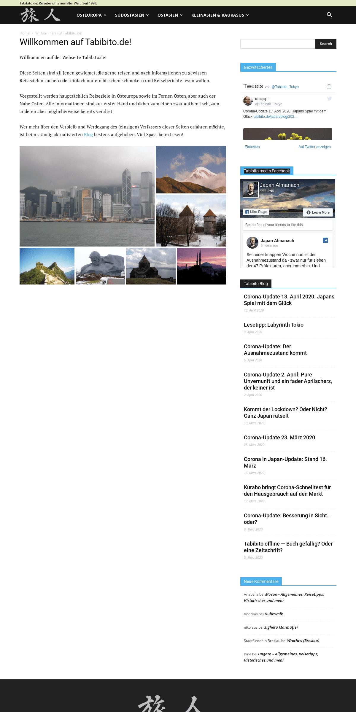 Tabibito Reiseseiten - Reiseberichte aus aller Welt