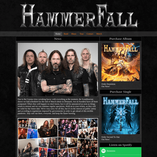 Home - HammerFall - The Official Website