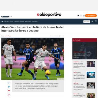 Alexis está en la lista de buena fe del Inter para la Europa League