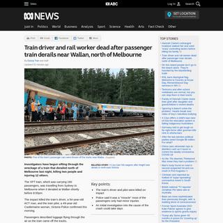 ArchiveBay.com - www.abc.net.au/news/2020-02-20/two-dead-in-train-derailment-melbourne-wallan/11986230 - Train driver and rail worker dead after passenger train derails near Wallan, north of Melbourne - ABC News (Australian Broadcast