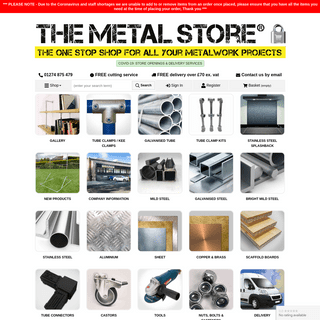 The Metal Store™ Official Website - Free Delivery £70+
