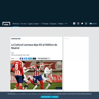 La Cultural Leonesa deja KO al Atlético de Madrid - Goal.com