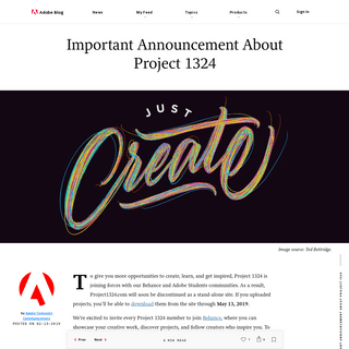 ArchiveBay.com - project1324.com - Important Announcement About Project 1324 - Adobe Blog