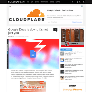 Google Docs is down, it's not just you - SlashGear