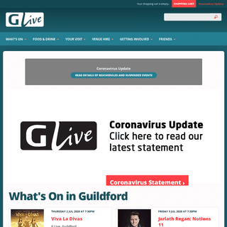 G Live - Guildford - Live Music, Theatre, Comedy, Dance, Classical Music