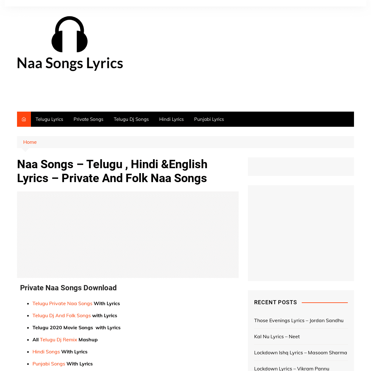ArchiveBay.com - naasong.co.in - Naa Songs - Telugu , Hindi &English Lyrics - Private And Folk Naa Songs - Naa Songs Lyrics