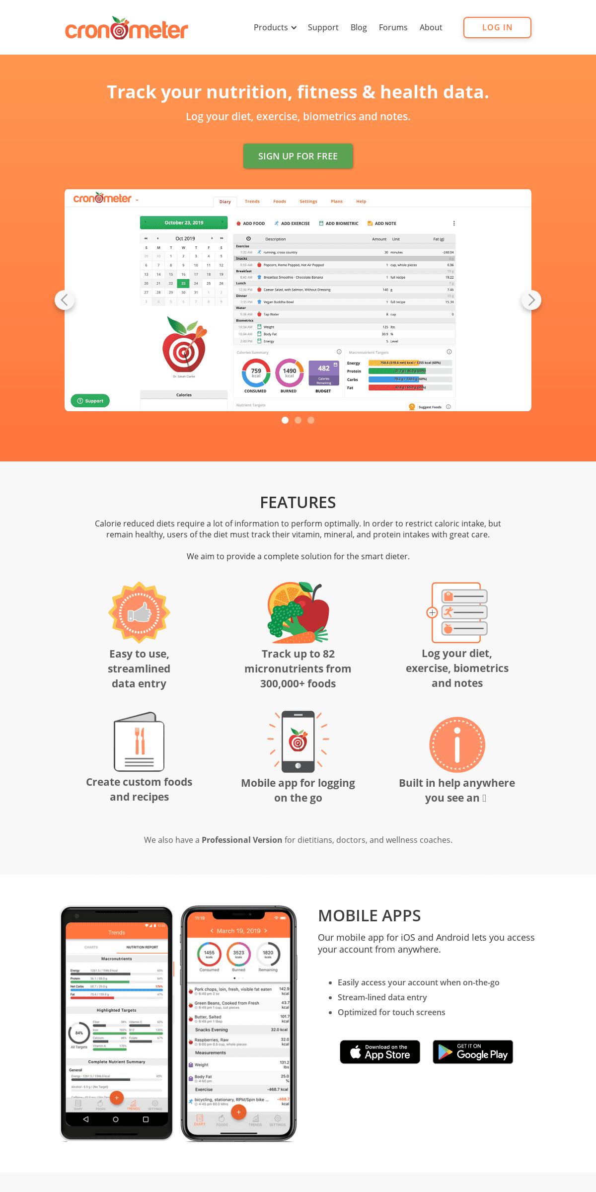 Cronometer- Track nutrition & count calories