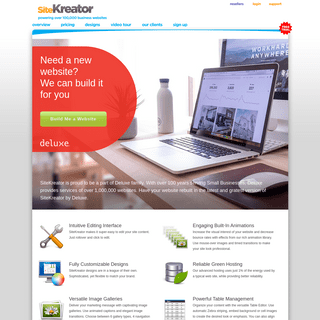 Website Builder- Create a business website on your own with SiteKreator - Home