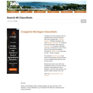 Craigslist Michigan - Classified Ads Michigan