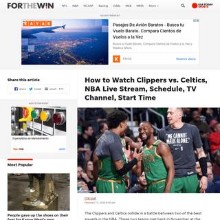 ArchiveBay.com - ftw.usatoday.com/2020/02/how-to-watch-clippers-vs-celtics-nba-live-stream-schedule-tv-channel-start-time - Clippers vs. Celtics Live Stream- TV Channel, How to Watch