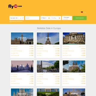 Billigflüge vergleichen - günstige Flüge mit fly24.com buchen