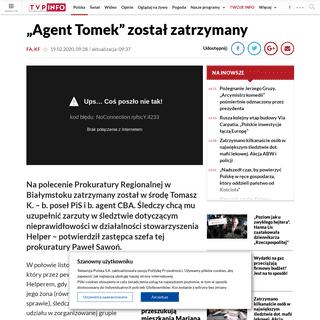 """""""Agent Tomek"""" został zatrzymany wieszwiecej - tvp.info"""