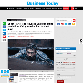 Bhoot Part 1 The Haunted Ship box office prediction- Vicky Kaushal film to start slow