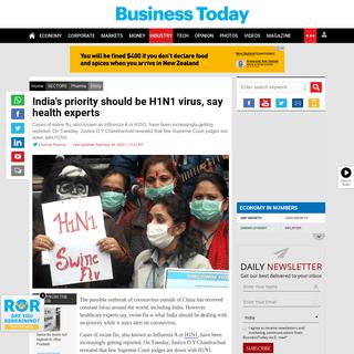 India's priority should be H1N1 virus, say health experts