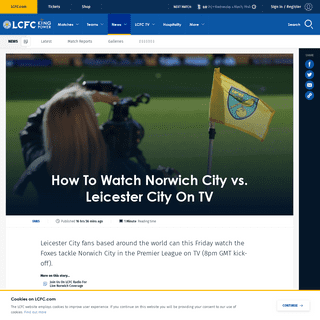 How To Watch Norwich City vs. Leicester City On TV
