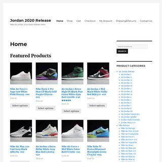 Jordan2020release.com-2020 Nike Air Jordan Release News