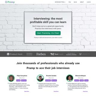 Practice Mock Interviews & Coding Problems - Land Top Jobs - Pramp