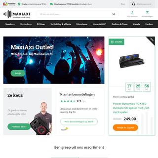MaxiAxi- De specialist in DJ Gear, PA & Speakers, Licht effecten