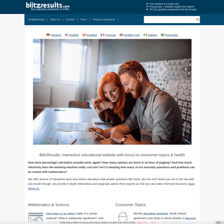 BlitzResults- Interactive educational website with focus on consumer topics & health