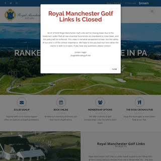 Mt Wolf, PA Public Golf Course - Royal Manchester Golf Links