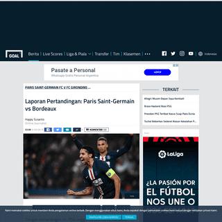 Laporan Pertandingan- Paris Saint-Germain vs Bordeaux - Goal.com