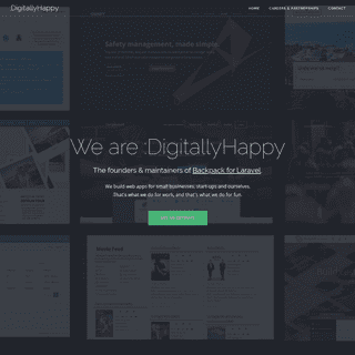 The Makers of Backpack for Laravel are -DigitallyHappy