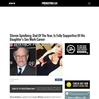Steven Spielberg Supports His Daughter Mikaela's Sex Work Career
