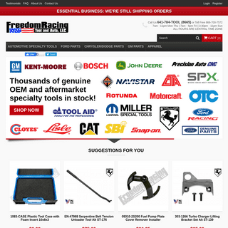 Freedom Racing- OEM Automotive Specialty Tools for Mechanics