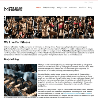 ProGains Foundry - Great Supplements, Great Results