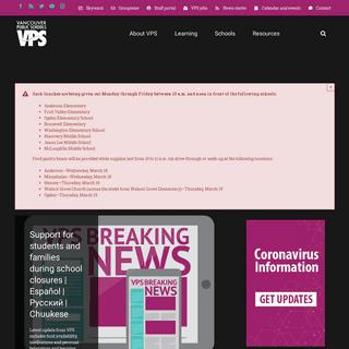 Vancouver Public Schools – The district website for Vancouver Public Schools- program and school information.