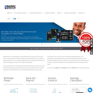 ERS Biometrics - Biometric Time & Attendance and Access Control