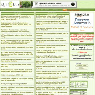 EquityBulls.com- Stock Markets, Mutual Funds, Commodity, Business, Finance News, Live Updates