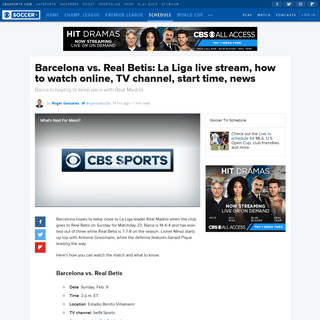 ArchiveBay.com - www.cbssports.com/soccer/news/barcelona-vs-real-betis-la-liga-pick-prediction-tv-channel-live-stream-watch-online/ - Barcelona vs. Real Betis- La Liga live stream, how to watch online, TV channel, start time, news - CBSSports.com