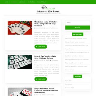 Situs Informasi IDN Poker Terbaru Dan Terpercaya
