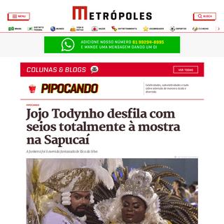 ArchiveBay.com - www.metropoles.com/colunas-blogs/pipocando/jojo-todynho-desfila-com-seios-totalmente-a-mostra-na-sapucai - Jojo Todynho desfila com seios totalmente à mostra na Sapucaí