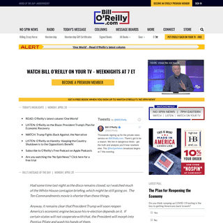 Bill O'Reilly - No Spin News