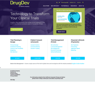 Technology to Transform Your Clinical Trials - DrugDev, an IQVIA company