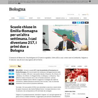 Scuole chiuse in Emilia-Romagna per un'altra settimana. I casi diventano 217, i primi due a Bologna - la Repubblica
