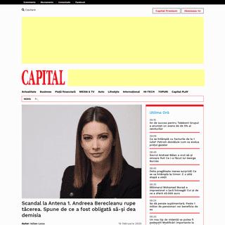 Scandal la Antena 1. Andreea Berecleanu rupe tăcerea. Spune de ce a fost obligată să-și dea demisia – capital.ro