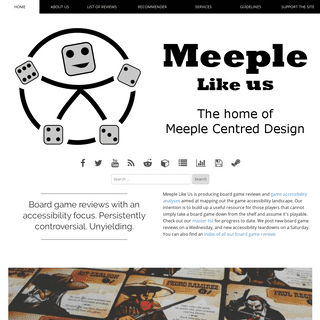 Board Game Reviews and Game Accessibility Analyses - Meeple Like Us